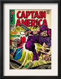 Marvel Comics Retro: Captain America Comic Book Cover 108, the Trapster (aged) Prints