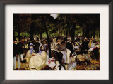 Music In Tuilerie Garden Poster by Édouard Manet