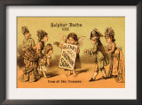 Glenn's Sulphur Soap - Cures All Skin Diseases Poster