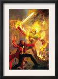 Strange 6 Cover: Dr. Strange and Dormammu Fighting Prints