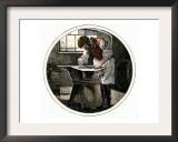 Blacksmith Working at an Anvil Prints