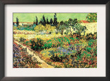 Flowering Garden Print by Vincent van Gogh