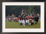 British Army Takes the Field in a Reenactment of the Surrender at Yorktown Battlefield, Virginia Prints