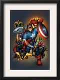 The Official Handbook Of The Marvel Universe: Avengers 2004 Cover: Captain America Posters by Salvador Larroca