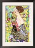 Dama con abanico Obra de arte por Gustav Klimt