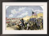 American Forces Behind the Breastworks at the Battle of New Orleans, c.1815 Posters