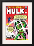 The Incredible Hulk 6 Cover: Hulk and Metal Master Fighting Posters by Steve Ditko