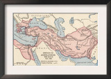 Map of the Empire of Alexander the Great in 323 Bc Prints