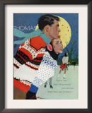 Romantic Moonlit Ice Skating Posters