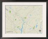 Political Map of South Berwick, ME Prints