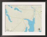 Political Map of Surry, ME Art