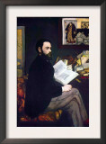 Portrait of Emile Zola Prints by Édouard Manet