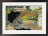Camille In The Garden with Jean and His Nanny Poster by Claude Monet