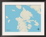 Political Map of Deer Isle, ME Prints