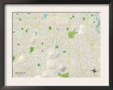 Political Map of Gresham, OR Prints