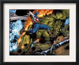 Ultimate Six 6 Group: Captain America, Green Goblin, Wasp, Thor and Electro Prints by Trevor Hairsine