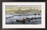 U.S. Troops Landing at Vera Cruz, Mexico, During the U.S.-Mexican War, c.1847 Prints