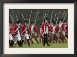 British Army on the Field in a Reenactment of the Surrender at Yorktown Battlefield, Virginia Poster