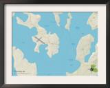 Political Map of Eastport, ME Prints