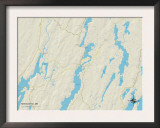 Political Map of Newcastle, ME Print