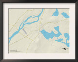 Political Map of Lincoln, ME Prints