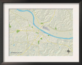 Political Map of Jefferson City, MO Prints
