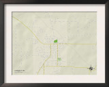 Political Map of Lucedale, MS Print