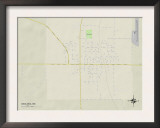 Political Map of Okolona, MS Prints