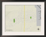 Political Map of West Gulfport, MS Print