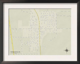 Political Map of Mound Bayou, MS Prints