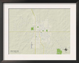 Political Map of West Point, MS Posters