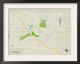 Political Map of Olive Branch, MS Poster