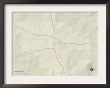Political Map of Raleigh, MS Prints