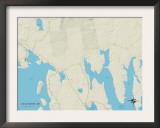 Political Map of Gouldsboro, ME Prints