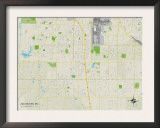 Political Map of Southaven, MS Print