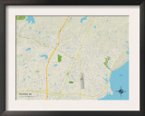 Political Map of Madison, MS Prints