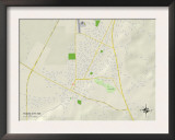 Political Map of Yazoo City, MS Poster