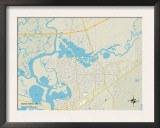 Political Map of Moss Point, MS Poster