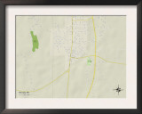 Political Map of Macon, MS Prints