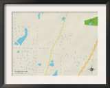 Political Map of Taylorsville, MS Posters