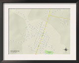 Political Map of Port Gibson, MS Art