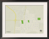Political Map of Belzoni, MS Prints