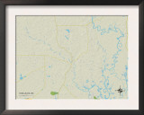 Political Map of Vancleave, MS Posters