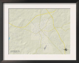 Political Map of Waynesboro, MS Poster