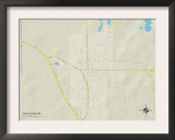 Political Map of Nettleton, MS Posters