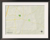 Political Map of Brookhaven, MS Art