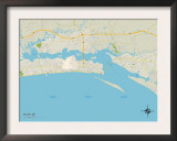 Political Map of Biloxi, MS Posters