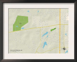 Political Map of West Hattiesburg, MS Prints
