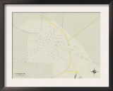 Political Map of Tutwiler, MS Print