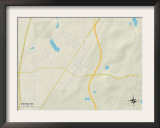 Political Map of Marion, MS Prints